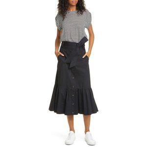 Veronica Beard Capri Mixed Media Striped Dress L